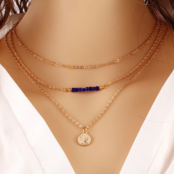 Gold Plated Coin Hanging Chain Pendant