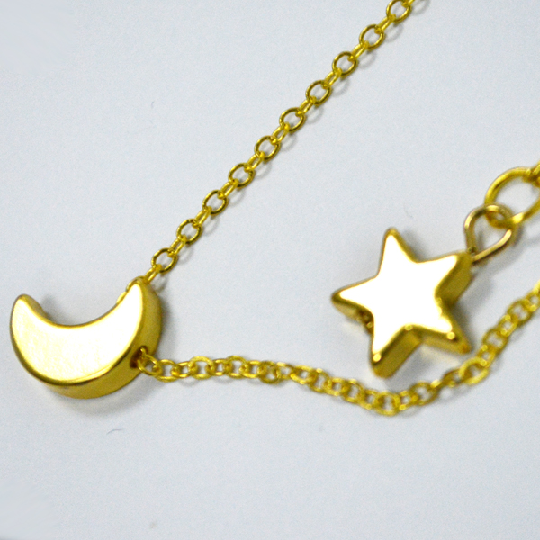 Exclusive Gold Plated Moon And  Star Pendant For Women