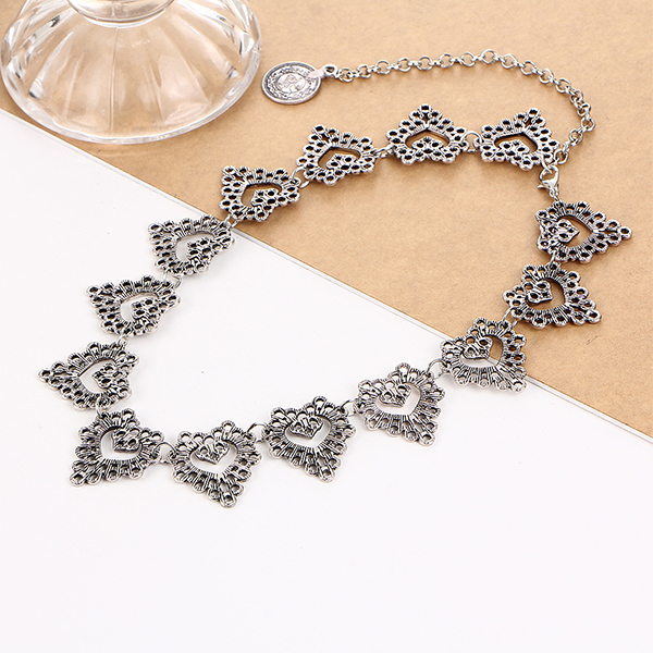 Bohemian SIlver Plated Choker Necklace