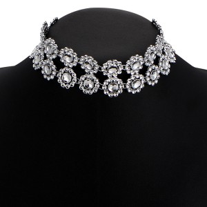 Double Layer Silver Plated Party Necklace