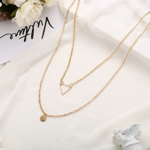 Gold Plated Women Fashion Jewelry Necklace - Golden