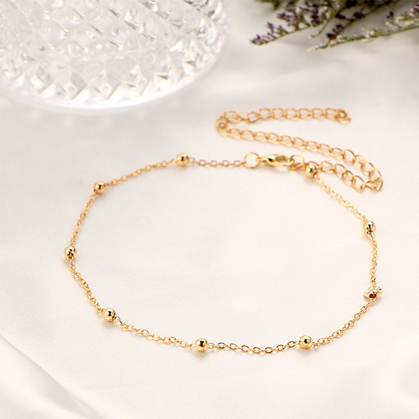 cb21f1d3be7c Gold Plated Beads And Chain Choker Necklace