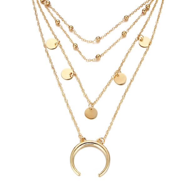 Four Layer Gold Plated Necklace