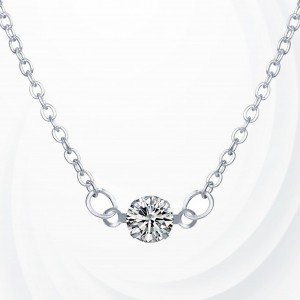 Crystal Patch Silver Plated Fashion Pendant - Silver