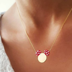 Micky Cute Golden Chain Pendant - Golden