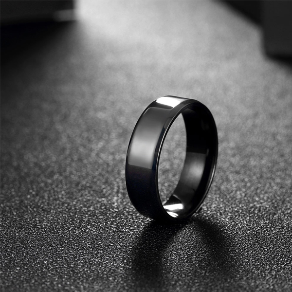Male Black Stainless Steel Rings For Style And Fashion