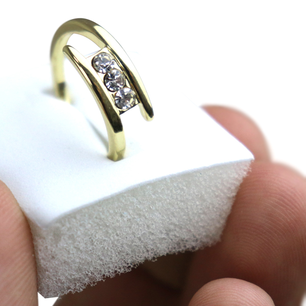 Gold Plated Simple Crystals Decorated Ring