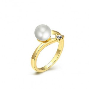 Korean Gold Pleated Ring Party Gentle Lady Fashion Ring