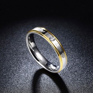 Forever Love Classic Titanium Steel Ring Jewelry