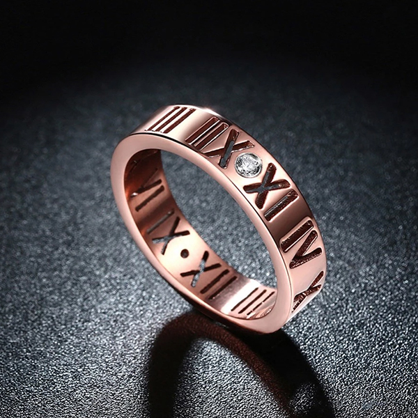 Classic Titanium Steel Ring Women Jewelry