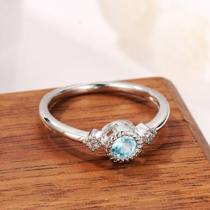 Silver Plated Crystal Engagement Rings