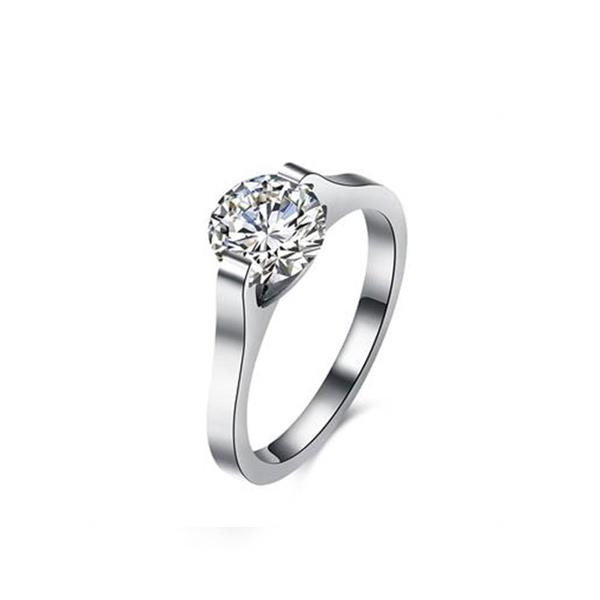 Titanium Silver Diamond Silver Ring Jewelry