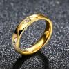Titanium Steel Flat Ring Female Couple Ring Golden Jewelry