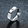 Flat Ring Titanium Steel Diamond Couple Ring Men Jewelry