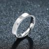 Titanium Steel Series Diamond Eternal Couple Ring Women Jewelry