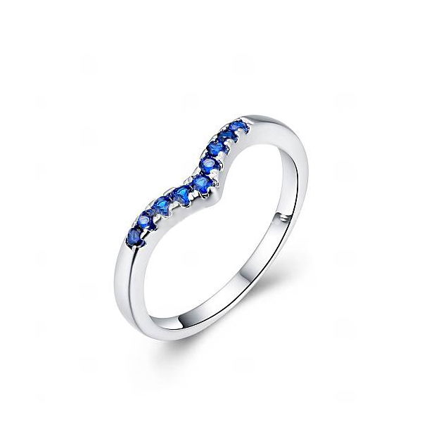 Fashionable Flat Zircon Simple Sober Ring Silver