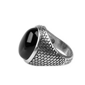 New Stylish Brick Pattern Silver Plated Ring For Men