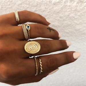 Party Wear Women Trendy Fashion Six Rings Set