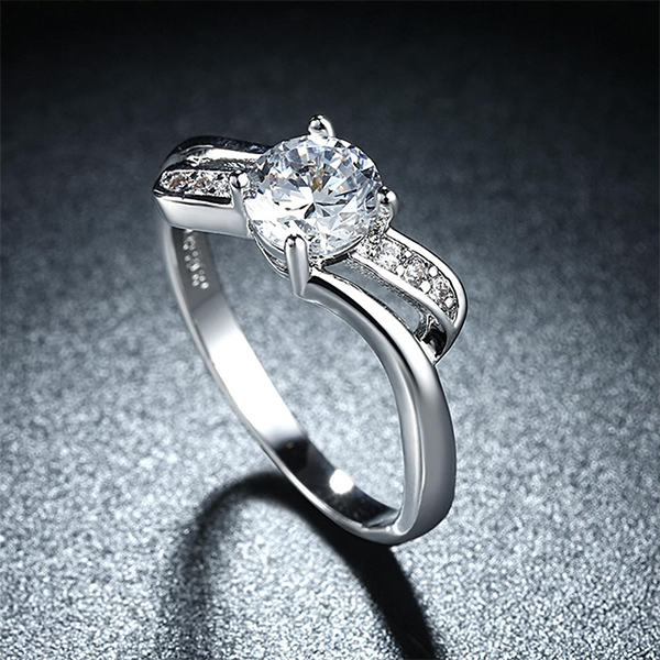 Decorated Wedding Ring For Women Platinum Series Jewelry