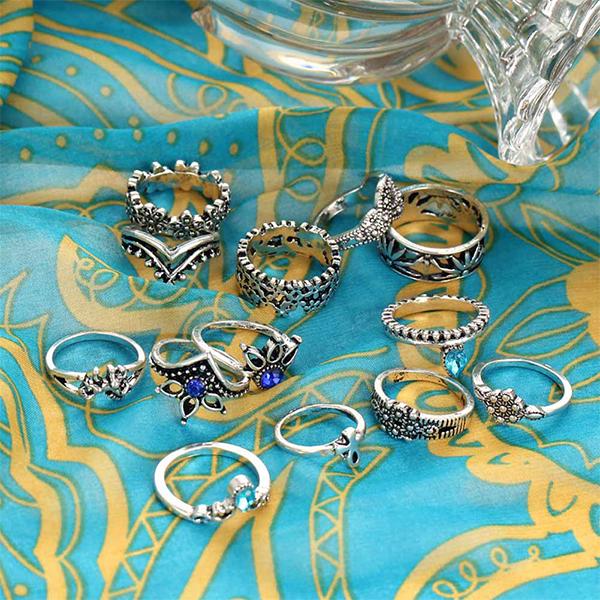 Silver Plated Wedding Bells Premium Rings Set