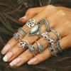 Eleven Pieces Silver Plated Antique Rings Set