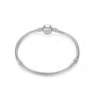 Female Fashion Wire Bracelet Silver Plated Magnet Buckle Silver