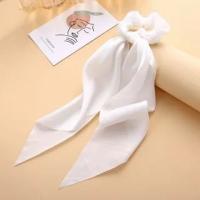 Braid Soft Elastic Canvas Silky Hair Bands - White