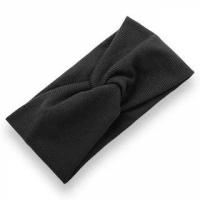 Ribbed Elastic Women Fashion Hair Bands - Black