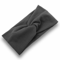 Ribbed Elastic Women Fashion Hair Bands - Gray