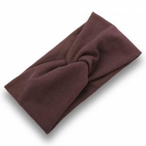 Ribbed Elastic Women Fashion Hair Bands - Brown