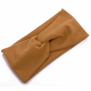 Ribbed Elastic Women Fashion Hair Bands - Khaki