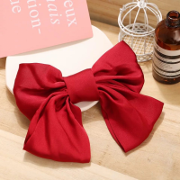 Bow Shaped Elastic Head Wear Fashion Women Bands - Red