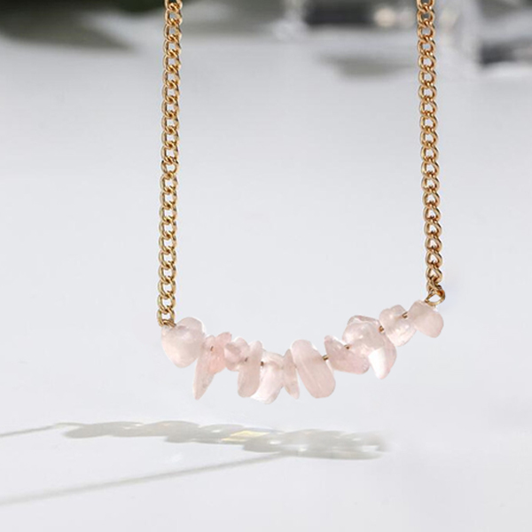 Multi-color Natural Opal Stone Choker Necklace Pink
