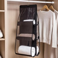Three Storey Multi Storage Hanging Rack - Black