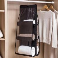 Three Storey Multi Storage Hanging Rack - Black