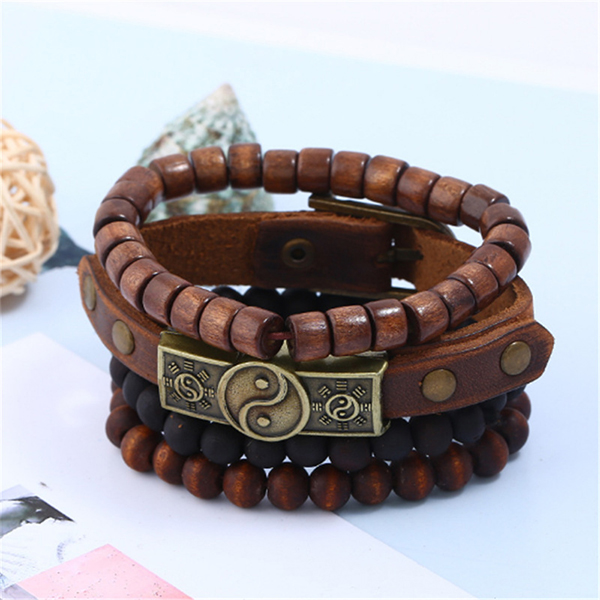 Beads Decorated Multishaped Bracelets Set