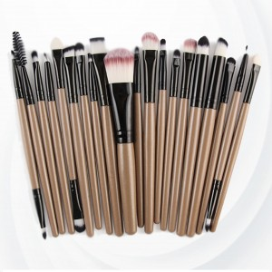 Twenty PCs Professional Makeup Brushes Set - Black