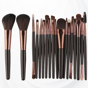 18 PCs Professional Makeup Brushes Set - Black Golden