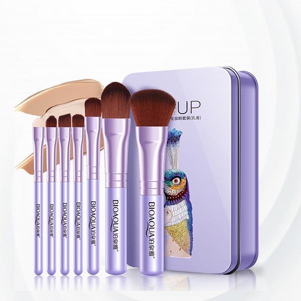 Thin Handheld Fancy Seven Piece Brushes Purple