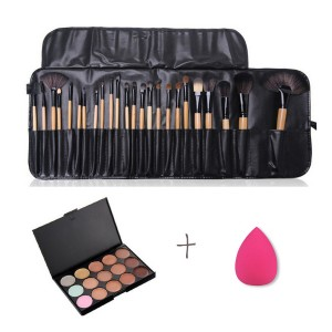 24 PCs Complete Brushes Set With Concealer And Puff