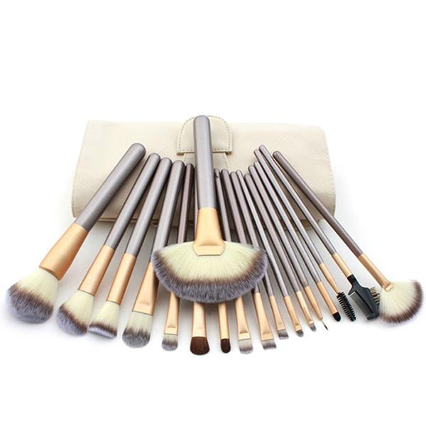18 Units Brushes Cosmetic Professional Makeup Foundation Brushes