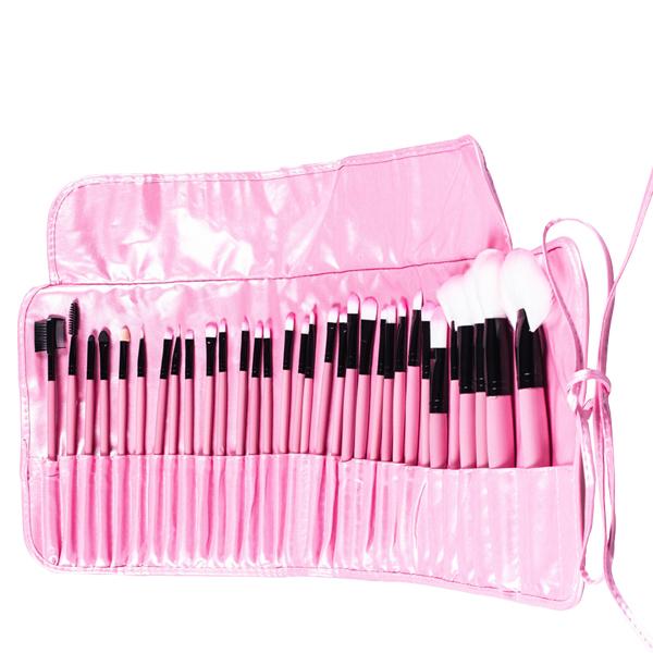 Brushes 32 PCs Professional Pink Makeup Brush Tools Set