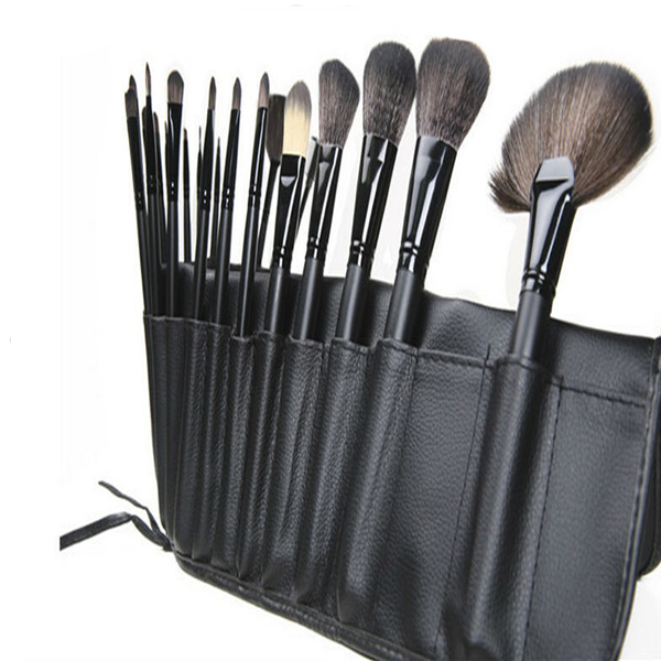 24 Units Professional Makeup Brush Tool Kit Set Black