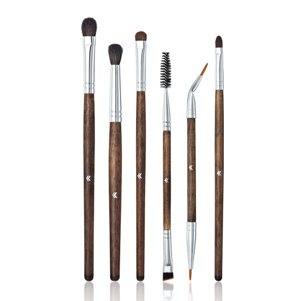 Six Pieces Branded Wooden Handle Brushes Set