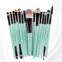 Fifteen PCs Professional Makeup Brushes Set - Black Blue