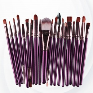 Twenty PCs Professional Makeup Brushes Set - Purple
