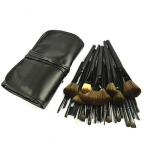 32 Pcs Professional Facial Make up Brush Kit Set Black