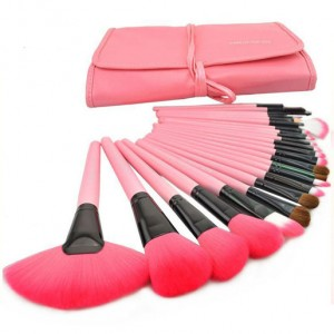 24 Units Professional Makeup Brush Tool Kit Set Case