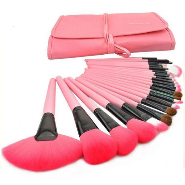 24 Units Professional Makeup Brush Tool Kit Set Case
