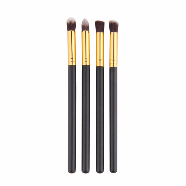 Quality Blending Cosmetic Brushes For Women Black Gold
